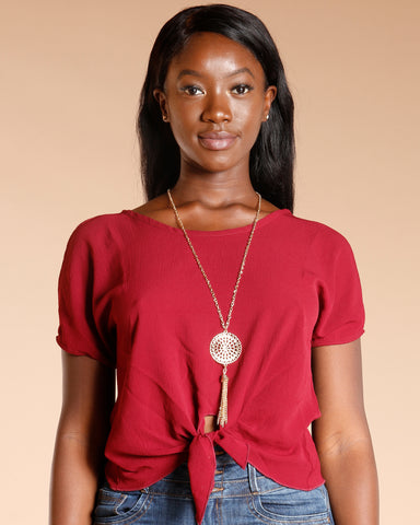 FRONT KNOT TOP (AVAILABLE IN 6 COLORS)