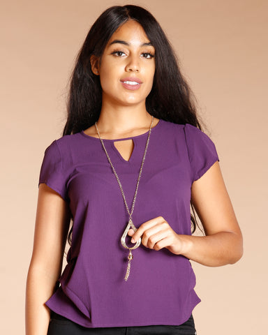 Necklace Keyhole Top (Available In 6 Colors)