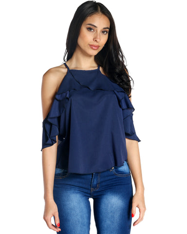 MAYA COLD SHOULDER TOP (AVAILABLE IN 3 COLORS)