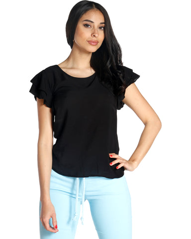 MERA RUFFLE TOP (available in 3 colors)