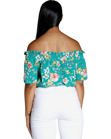 IN BLOOM OFF SHOULDER TOP (AVAILABLE IN 2 COLORS)
