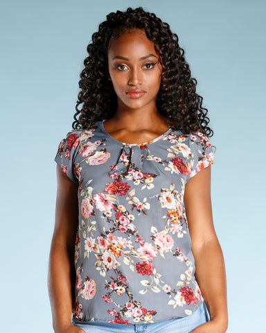 ALL OVER FLORAL PRINT TOP (AVAILABLE IN 2 COLORS)