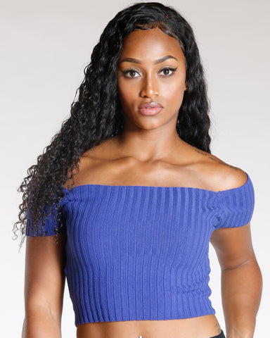 Ribbed Off The Shoulder Top (Available In 5 Colors)
