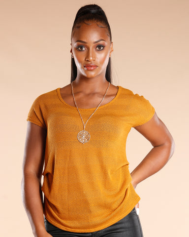 Ruched Side Necklace Top