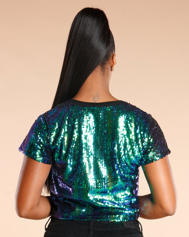Multi Sequin Top