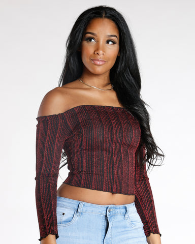 Women's Conceited Off The Shoulder Top - Vim Vixen - Remy Ma - Gold