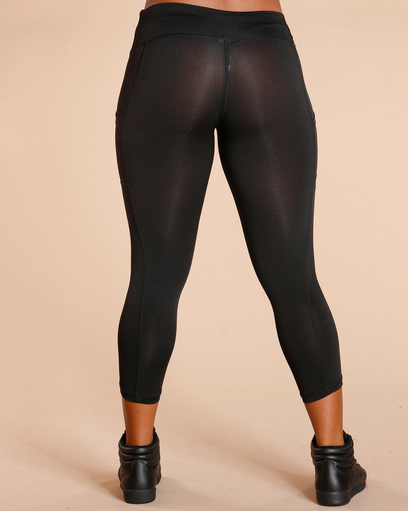 MELANGE LEGGING WITH SIDE POCKET