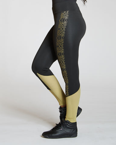 Metallic Side Print Legging