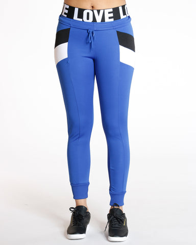 Chloe Royal Color Block Interlock Legging