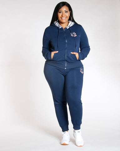 Navy PLUS KNITTED LOVE FLEECE JOGGER