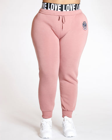 Plus Knitted Love Fleece Jogger