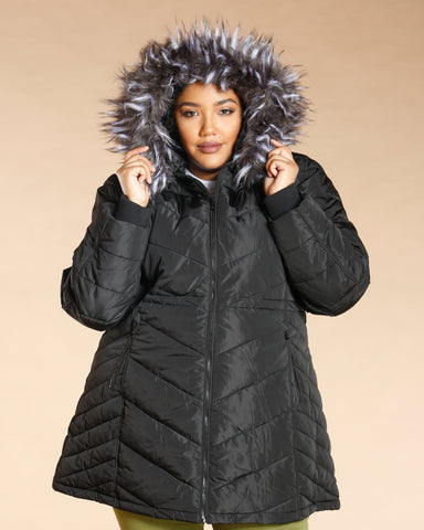 Plus Fur Hood Heavy Jacket