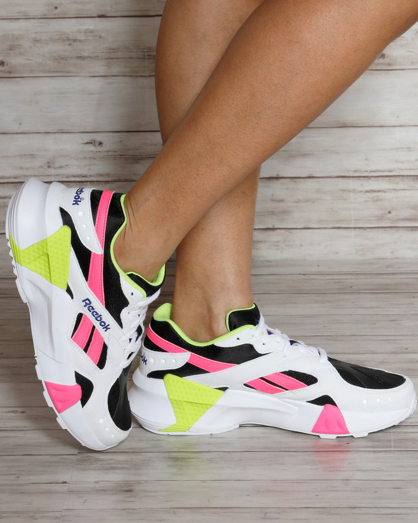 REEBOK Aztrek Double Sneakers - White Multi - ShopVimVixen.com