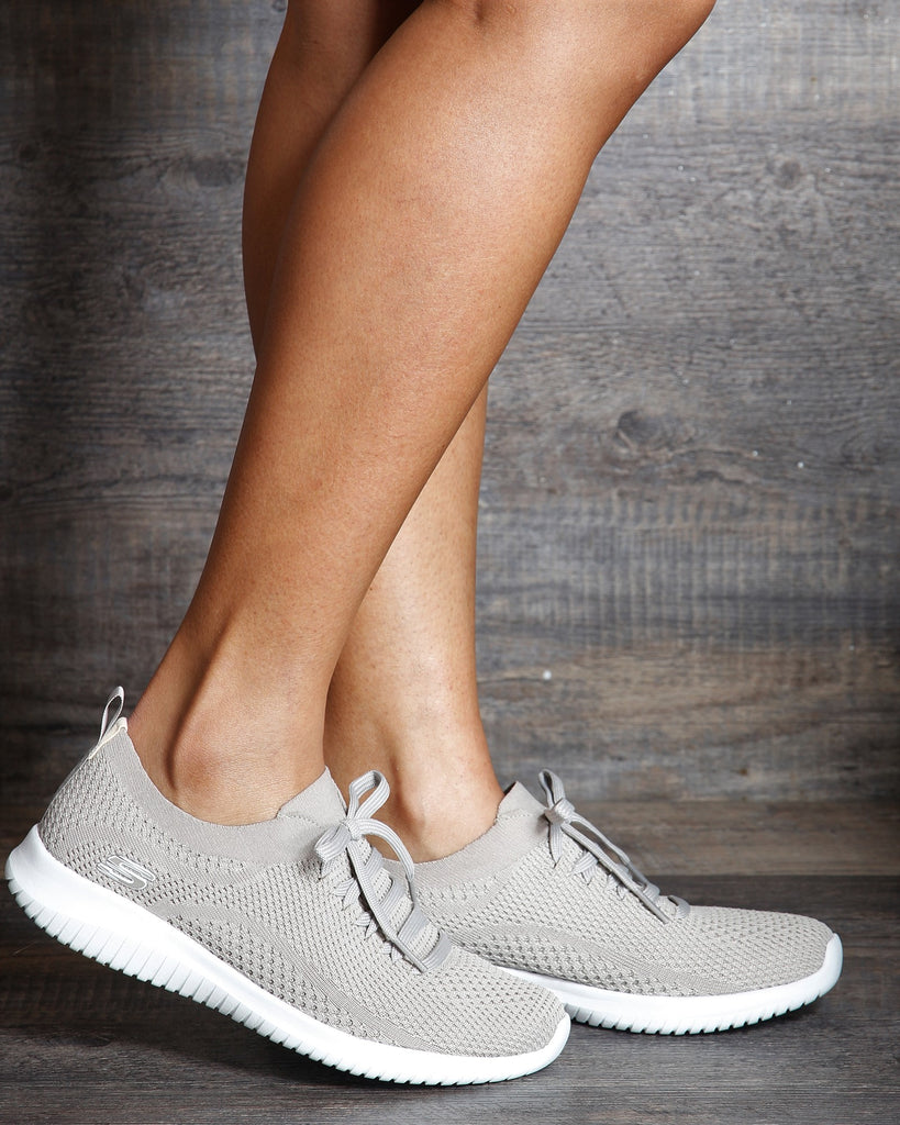 Women's Ultra Flex Statement Sneakers Taupe Vim Vixen