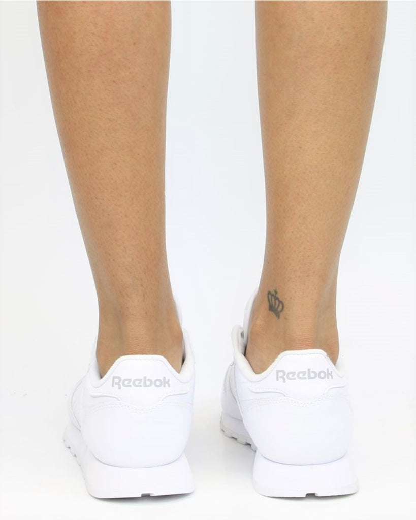 REEBOK Classic Leather Plus Sneaker - White - ShopVimVixen.com