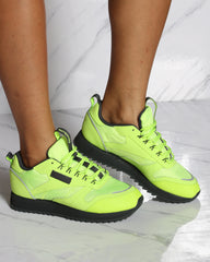 Women's Reebok Classic Leather Ripple Trail Sneaker Neon