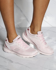 SKECHERS Flex Appeal 3.0 Moving Fast Sneaker - Pink - ShopVimVixen.com