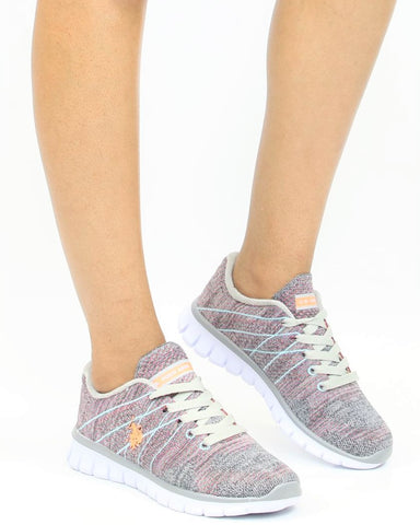 Lace Up Knit Sneaker