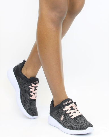 Knit Lace Up Sneaker