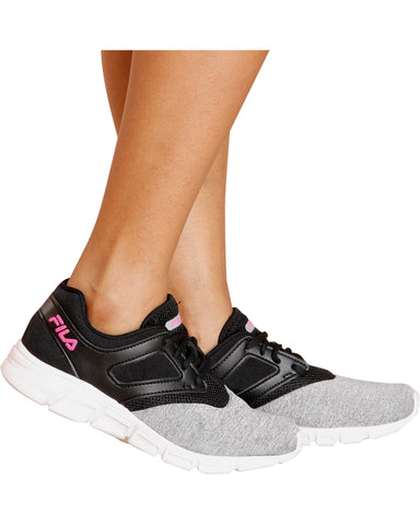 O-Ray Running Sneaker - Black/Heather/Pink