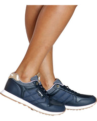 LEVI'S Tessa Low Top Sneaker - Navy - ShopVimVixen.com