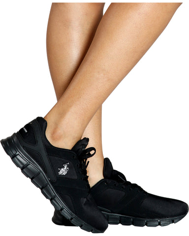 Lyca Comfort Walking Lace-Up Sneaker - Black
