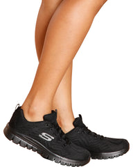 SKECHERS Get Connected 12615Bbk Sneaker - Black - ShopVimVixen.com