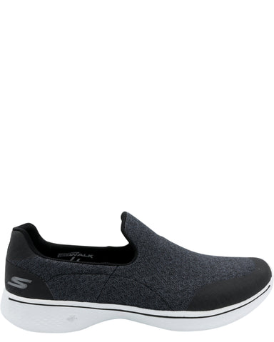 Go Walk 4 Diffuse Performance Slip on Sneaker - Black/White