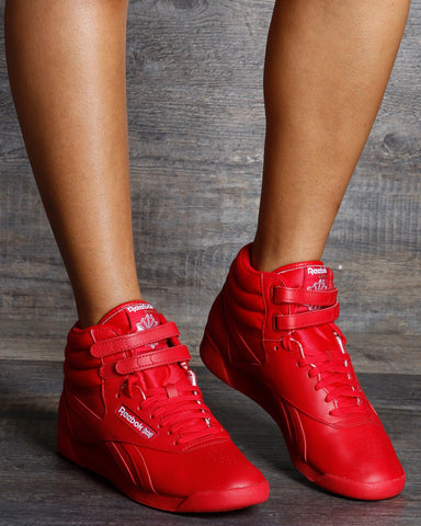Freestyle Hi High Top Sneaker - Red