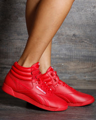 REEBOK Freestyle Hi Sneakers - Red - ShopVimVixen.com