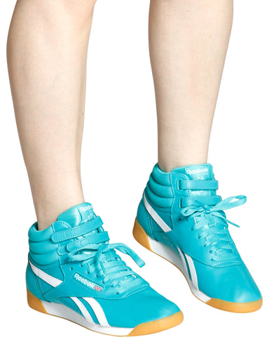 Freestyle Hi-Top Sneaker - Teal