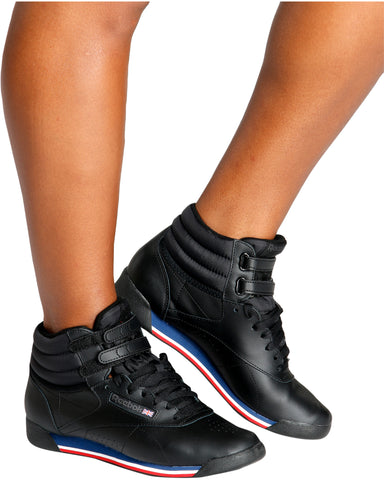 Freestyle Hi High Top Sneakers-Black