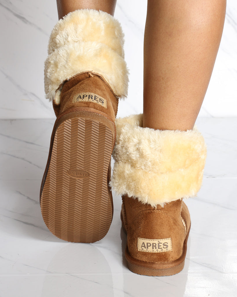 Carmella Fur Boot - Chestnut