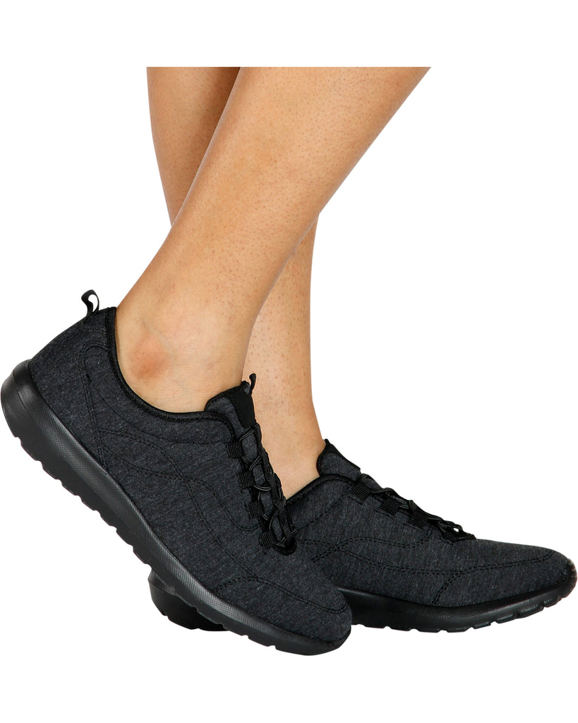 Hit The Gym Elastic Sneaker - Black