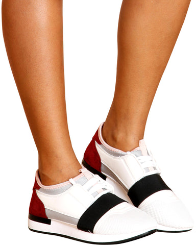 Ramona Low Top Fashion Sneakers (Available In 2 Colors)