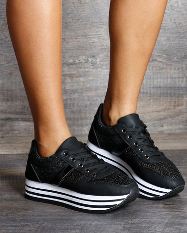 Laura Lace Up Platform Sneakers