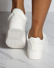 VIM VIXEN Classic Lace Up Low Top Sneaker - White - ShopVimVixen.com