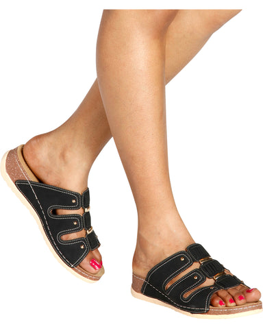 THELMA Comfort Slip On Sandal (Available in 2 Colors)