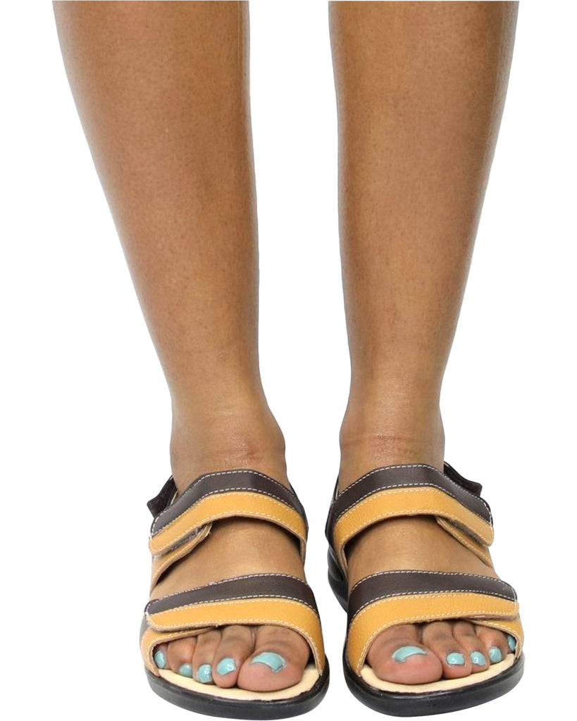 JANICE 2 Tone Comfort Sandals (Available in 2 Colors)