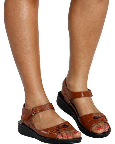 JULIE Petals Mary-Jane Comfort Sandal (Available in 2 Colors)