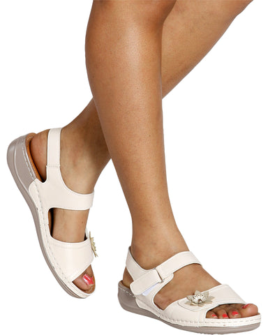 MIMI Flower Mary-Jane Sandal (Available in 2 Colors)