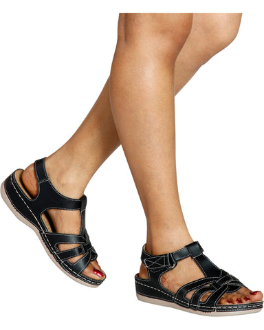BONITA Mary Jane Comfort Sandal - Black