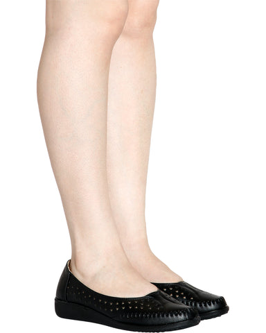 Bridget Soft Insole Comfort Shoe - Black