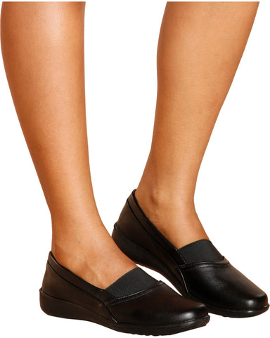 Nicky Elastic Comfort Shoes - Black