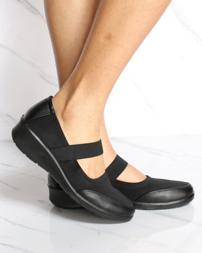 VIM VIXEN Emma Mary-Jane Comfort Shoe - Black - ShopVimVixen.com