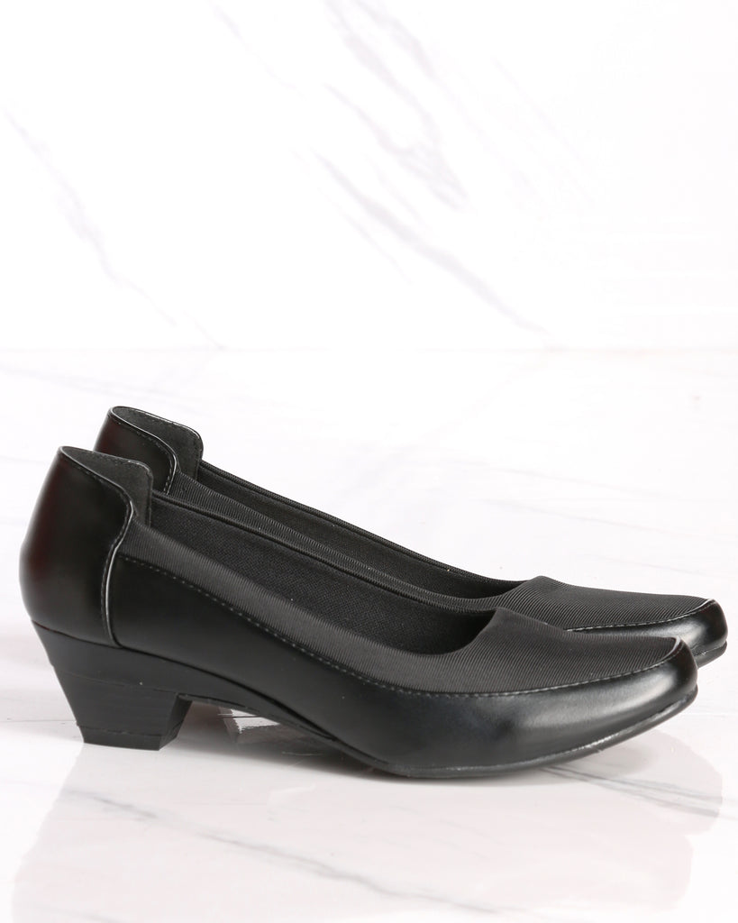 Zoe Low Comfort Heel - Black