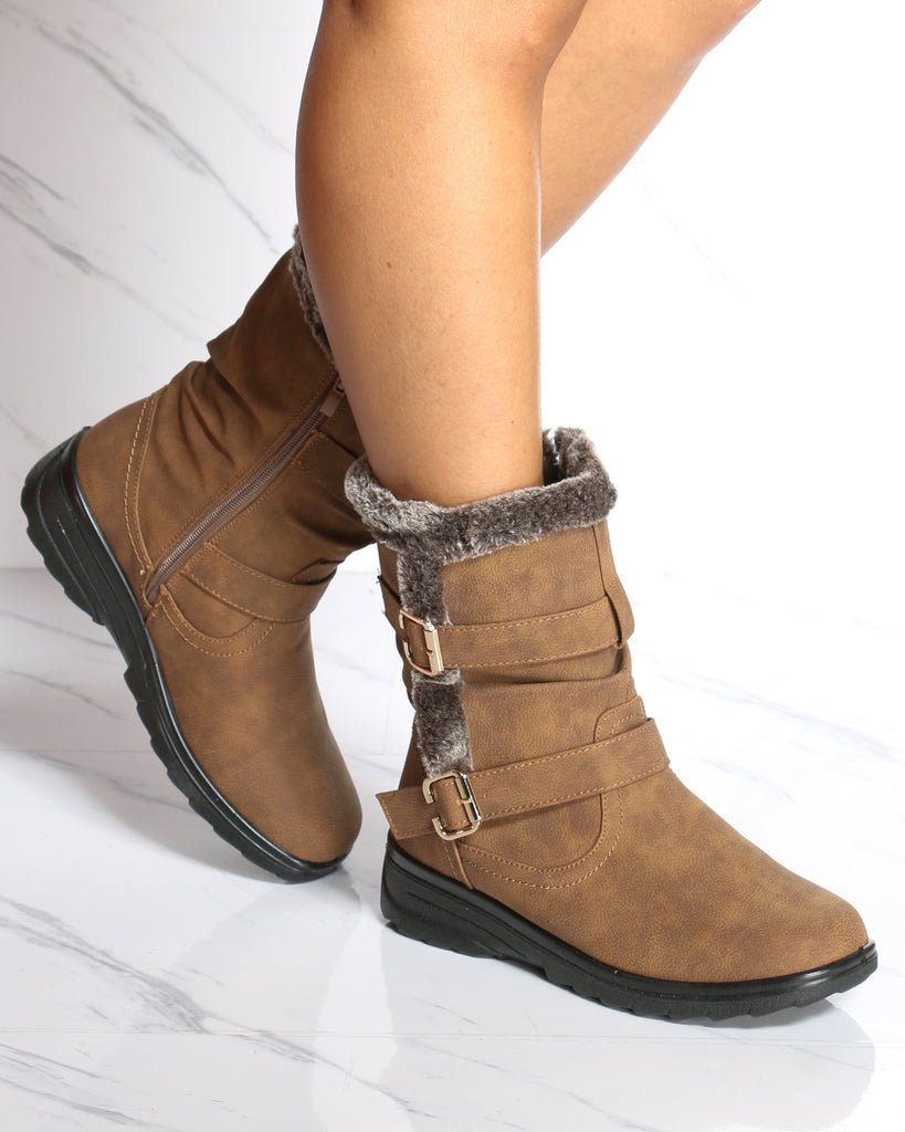 Kelly Water Resistant Snow Boot - Camel