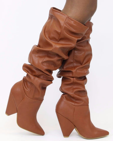 AMY Slouch Knee High Boot (Available in 2 Colors)