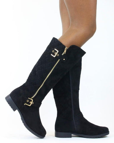 Brooke Quilted Knee Boot