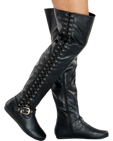 Kelly Lace Up Side Boots